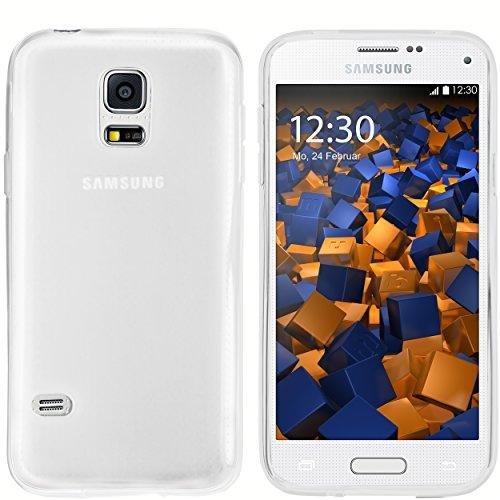 mumbi Hülle kompatibel mit Samsung Galaxy S5 mini Handy Case Handyhülle, transparent weiss