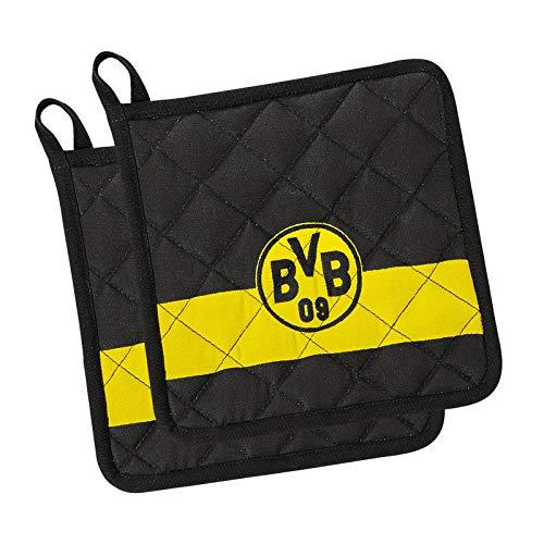 Borussia Dortmund Unisex Bvb Topflappen, schwarz, Einheitsgröße