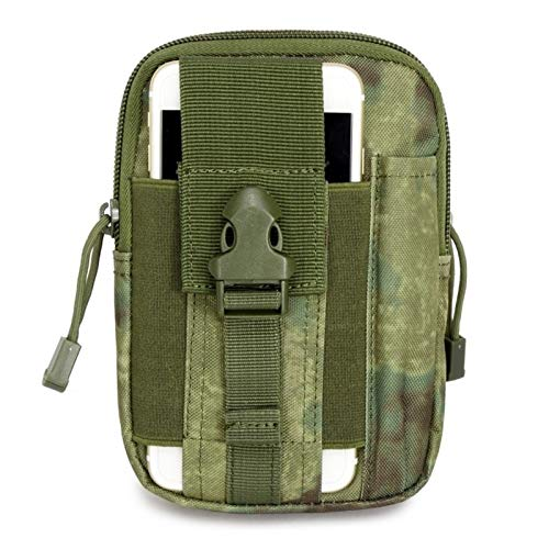 BMZGGIV Riñonera Molle Táctica Bolsa de la Cintura Fanny Pack Bag Hombre Outdoor Deportes Cinturón Cinturón Titular de Teléfono Móvil Caso EDC Bolsas de Caza para Senderismo Escalada Pesca Caza