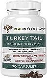 Real Mushrooms Turkey Tail Mushroom Supplements for Immune Support, Wellness, & Vitality | Vegan,...