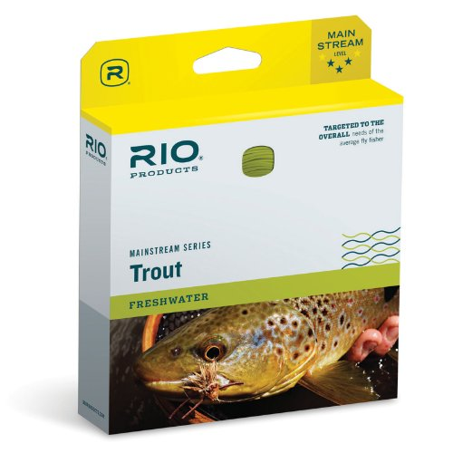 RIO Products Fly Line Mainstream Trout Dt3F Lemon Green, Lemon-Green