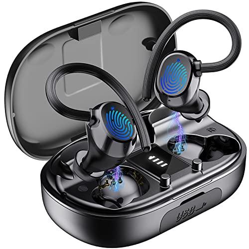 Auriculares Inalámbricos Deportivos, Auriculares Bluetooth 5.1 Deporte IPX7...