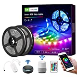 WiFi Smart LED Strip Lights with Remote, 32.8ft RGB Color Changing, SMD 5050 LED Rope Light, Under Cabinet Strip Lighting, 12V Tape Light for Kitchen, Bedroom