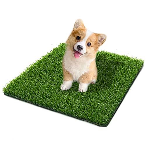 Fortune-star Kunstrasen für Hunde Pee Pads Hund Grasmatte und Gras-Fußmatte Indoor Outdoor Teppich Drainage Löcher Fake Gras Rasen für Welpen Töpfchen Training Bereich Terrasse Rasen Dekoration