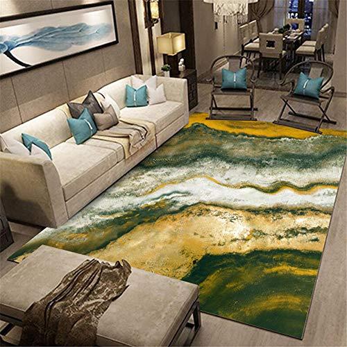 WQ-BBB Dywany nie odkształcają dywan jasny abstrakcyjny styl dywan salon zielony żółty szary dźwiękoszczelne oddychające dywaniki do wnętrz 45 x 75 cm