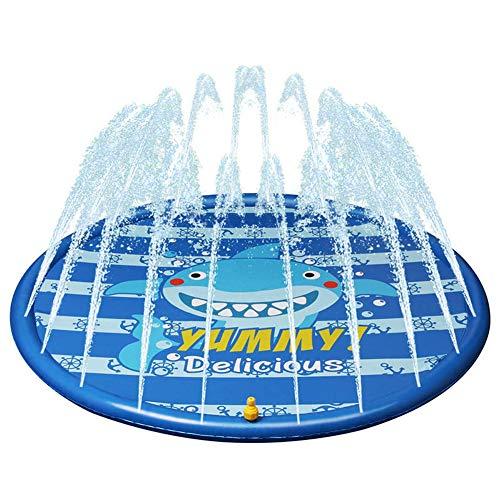 XXCLZ Los niños inflables del Aerosol de Agua del Verano de los niños de Juegos de Agua de riego Mat Juegos de césped Pad Juego Divertido Juguetes Piscina al Aire Libre 170cm,170 * 170CM