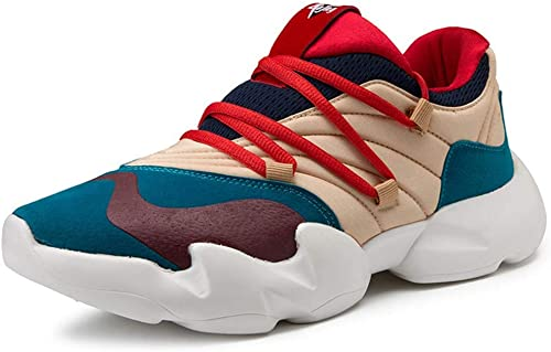 Hommes baskets Chaussures de Course Sport extérieur Chaussures de Course Running Chaussures de Montagne Gym Running Chaussures de Voyage Confortables Femmes,bleu,44EU