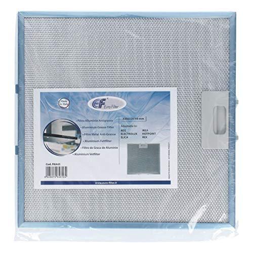 Fettfilter Filter Dunstfilter Antifettfilter Metallfilter 330x320mm für Dunstabzugshaube passend wie Whirlpool Bauknecht Ignis Ikea 481248058144 auch passend wie Samsung DG8102305A Indesit C0034579