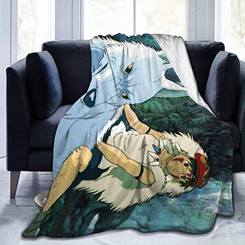 Manta Polar con Flecos  La Princesa Mononoke Adecuada para Todas Las Estaciones (200 x 150 cm)