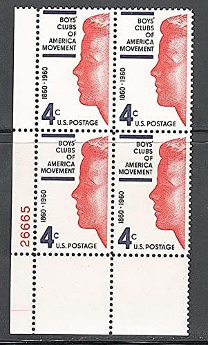 FGNDGEQN Colección de Sellos United States 1960 Boy Club Cien años / Talla Sello / trimestral / Digital Ming /