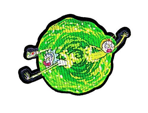 Gemelolandia | Parche Termoadhesivo Rick and Morty 10,5x7 cm | Muy Adherentes | Patch Stickers Para Decorar Tu Ropa | Fáciles de Poner