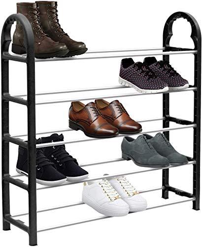 Organizador de zapatos ajustable, montaje, no requiere herramientas, fuerte y duradero, viene en dos tamaños de 3 y 5 niveles (5 niveles)