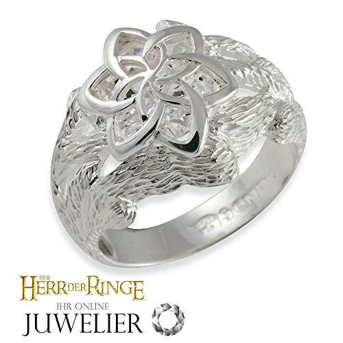 Herr der Ringe/Hobbit Schmuck by Schumann Design Galadriel Nenya Ring des Wassers aus 925 Silber 10004047