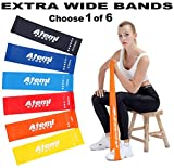 Extra Wide Resistance Bands for Glutes and Legs   Mini Resistance Loop Bands for Exercise   Elastic Gym Band for Women & Men   Workout Stretch Bands (#5 1 x Light Blue (Heavy))