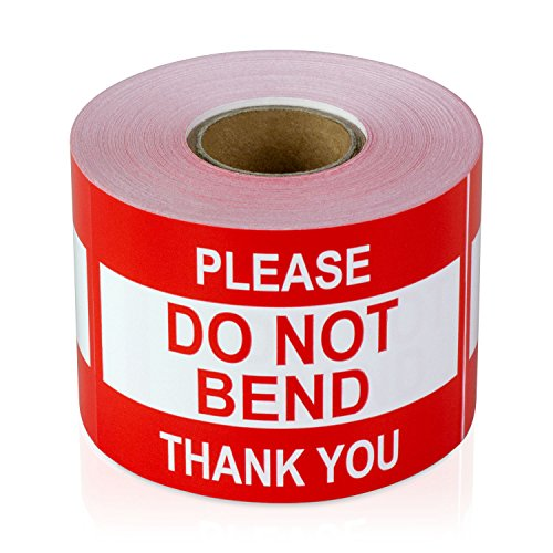 1 Roll / 300 Labels - 2 x 3 inch Do Not Bend Stickers/Do not Bend Labels