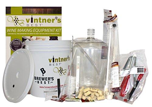 Midwest Winemaking Starter Equipment Kit w/ Better Bottle & Double Lever Corker