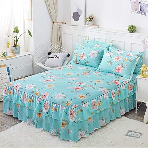 huyiming Gebruikt voor Voor bed cover Aloe enkele stuk dubbel bed rok bedovertrek Koreaanse Princess bed cover bed cover