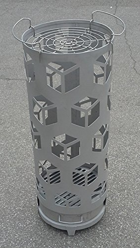 Feuersäule Feuerkorb mit GRILL Funktion CUBE rund Höhe: 103cm Durchmesser: 39cm