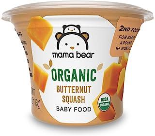 Amazon Brand - Mama Bear Organic Baby Food, Butternut Squash, 4 Ounce Tub, Pack of 12