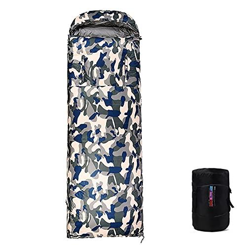 WBias&Belief Sacos de dormir para adultos, saco de dormir de 4 estaciones, diseño suave y transpirable, mantiene caliente para interior y exterior, 0,4 kg