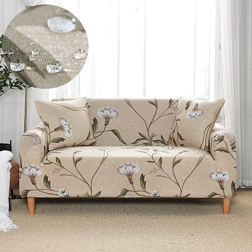 ABUKJM Copridivano impermeabile, Tessuto in Microfibra Stampata Elastica, per copridivano del soggiorno, Fodera per poltrona, Proteggi il divano da macchie e Danni (Color 9,1-Seat 90-130cm)