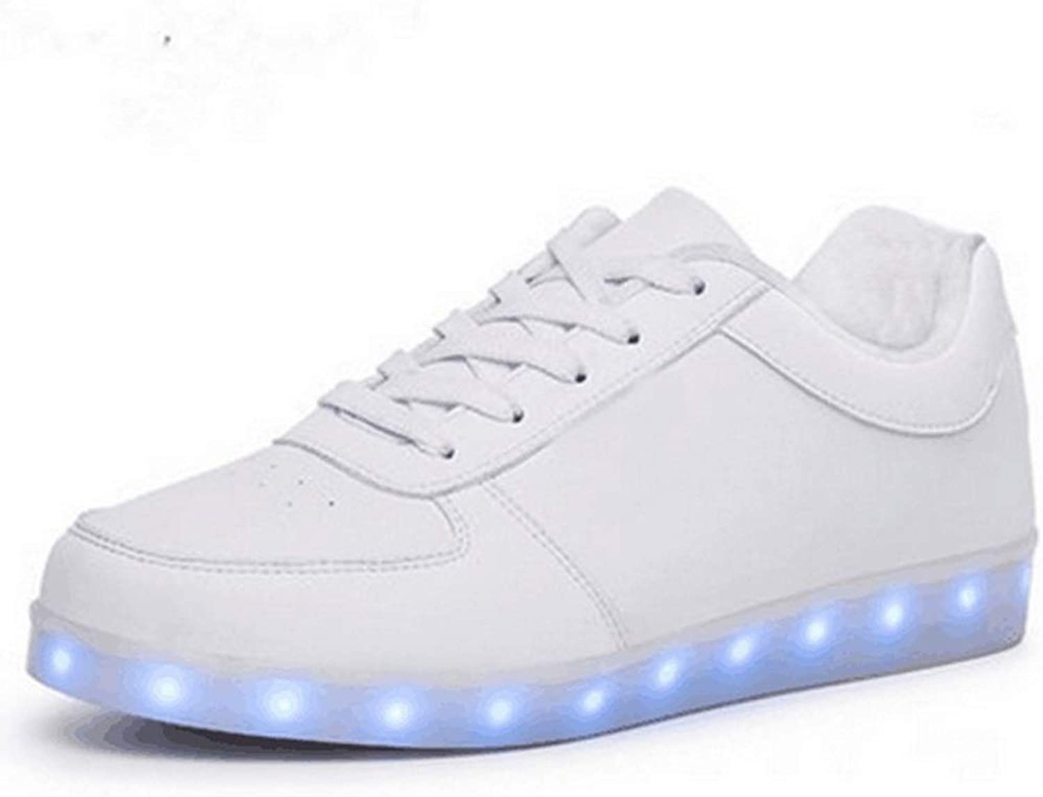 LED Light Illuminating shoes Men's Women's Multi-color LED Lighting USB Charging (color   B, Size   42EU)