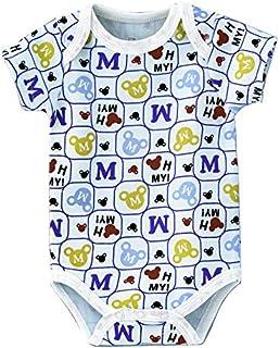 Babyqlo Alphabets Printed Onesies - Blue
