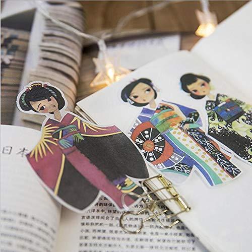 Kimono Thema Gilding Series Papier Sticker Decoratie Scrapbook Kinderen Studie benodigdheden briefpapier 30 Stationery per stuk