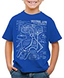 style3 Virtual Boy Cianotipo Camiseta para Niños T-Shirt 32-bit videoconsola, Color:Azul, Talla:164