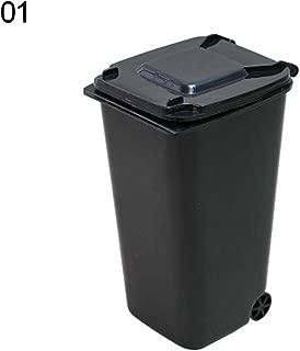 erDouckan Durable Trash Can, Mini Wheelie Trash Can Storage Bin Desktop Organizer Pen Pencil Cup Creative, Make Your Room Clean and Comfortable
