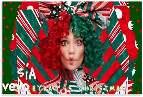 Tela De Lienzo 60x90cm Sin Marco Portada del álbum de Sia - Todos los días es Navidad Póster de decoración de dormitorio familiar moderno con impresión de imágenes