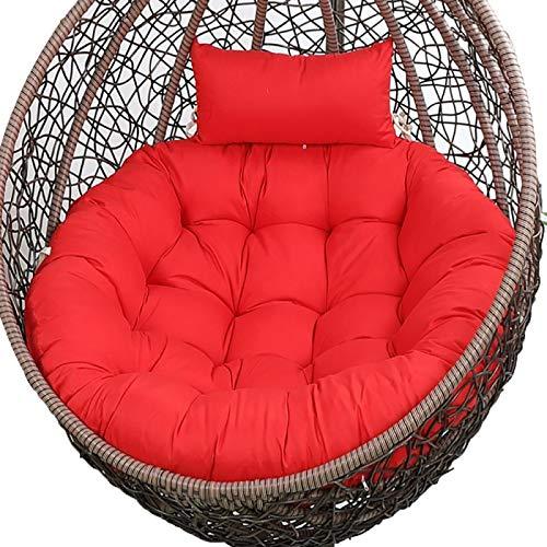 Cojín de asiento para colgar con canasta impermeable, cojín para silla de huevo, cojín para silla colgante con almohada, para interior y exterior, multicolor, sin silla, 120 cm