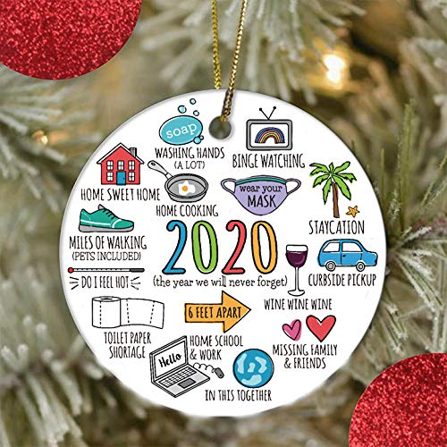 2020 Christmas Ornament, Personalized Christmas Tree Ornaments Christmas Decorations Creative Gift Pendant for Home Indoor Decor
