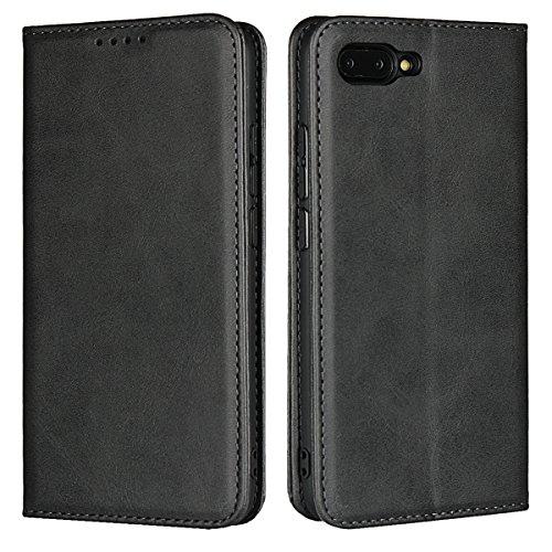 Copmob Huawei Honor 10 hülle,Premium Flip Leder Geldbörse mit weichem TPU-Shock Absorption,[3 Kartensteckplatz][Ständerfunktion][Magnetschnalle] - Schwarz