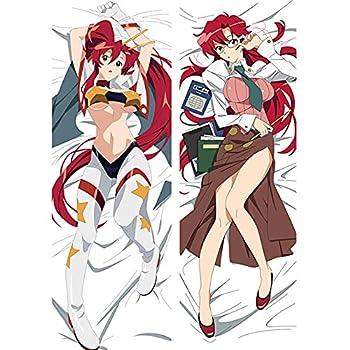 HOICHAN Anime Littner Yoko Female Dakimakura Peach Skin Fullbody Body Pillowcase Hugging Otaku Pillow Cover Home Bedding Manga Cosplay Long Hugging Body Peach Skin for 59inch X 19.7inch weiej FUTYE