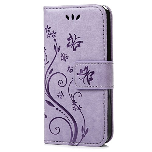 C-Super Mall-UK Samsung Galaxy S3 Mini GT-i8190 Case, PU embossed butterfly...