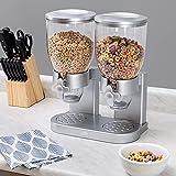 Zevro /GAT202 Indispensable Dry Food Dispenser, Dual Control, Silver