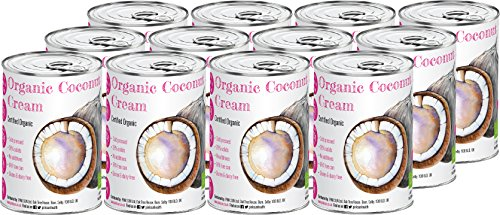 PINK SUN Organic Coconut Cream 400ml (Lots of 1 - 12 Cans) for Cocktails...