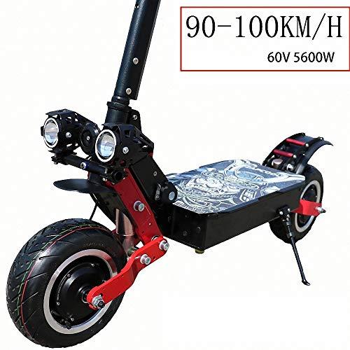 FZ FUTURE Elektroroller Scooter, klappbarer E-Scooter, bis zu 90-100 km/h, Stärkster 5600W, Einfach zu Falten und zu tragen Design, LCD-Anzeige LED Scheinwerfer,für Erwachsene,45KM120KM