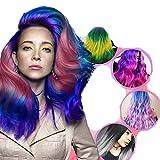 Tinte para el cabello que cambia de color mágico, 4 tintes para el cabello que cambian de color termocrómico diferentes, pintura semipermanente para herramientas de peinado