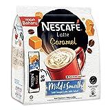 nescafe ice coffee - Nescafe 3 in 1 CARAMEL Coffee Latte - Instant Coffee Packets - Single Serve Flavored Coffee Mix (20 Sticks)