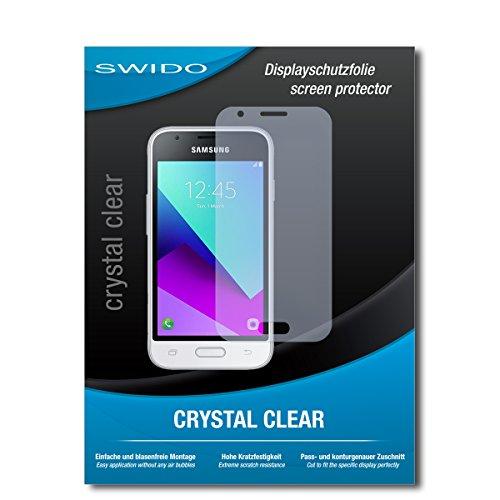 SWIDO Bildschirmschutz für Samsung Galaxy J1 Mini Prime [4 Stück] Kristall-Klar, Hoher Festigkeitgrad, Schutz vor Öl, Staub & Kratzer/Schutzfolie, Bildschirmschutzfolie, Panzerglas Folie