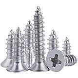XFentech 100 Piezas M1.4 Cruz tornillos de cabeza plana, tornillos...