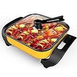 MUBAY Deluxe Elettrico Multifunzione Pot mongolo Hot Pot Fornello with No fumi for la casa Antiaderente (Dimensioni: 420x300x200mm 1600W)