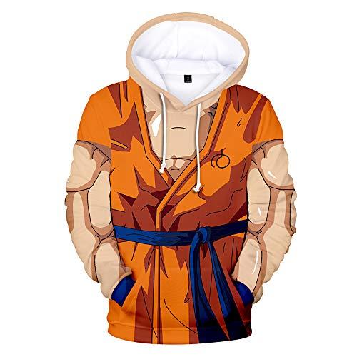 Dragon Ball Sudaderas con Capucha de Manga Larga Otoño Invierno Pullover Impresión...