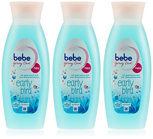 Bebe Young Care Dusche Early Bird, 250 ml, 3er Pack (3 x 250 ml)