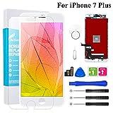 BuTure - Pantalla Táctil LCD para iPhone 7 Plus 5.5' Blanco, Pantalla para iPhone 7 Plus con...