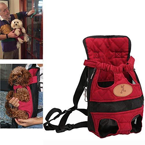 WXQY Pet Carrier Rucksack Einstellbare Safe Cat Dog Front Bag Leichte Heraus Tragetasche Pet Brusttasche für Reisen Wandern Camping