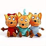 Yzhome 3 Unids 27 Cm Los Últimos Felices Rusos Tres Gatitos Animales Suaves Gato De Dibujos Animados...