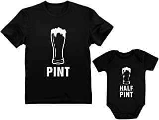 Pint & Half Pint Baby Bodysuit & Men's Shirt Matching Set Father & Child Outfit